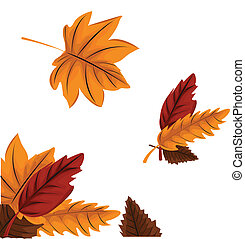 Autumn leaves background illustrati