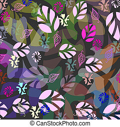 autumn leaves background pattern in