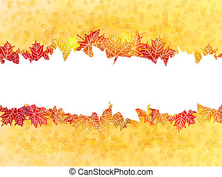 Autumn leaves background. plus EPS10