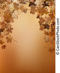 Autumn leaves background template. EPS 10