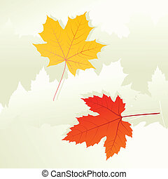 Autumn leaves background vector concept