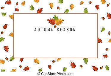 Autumn leaves banner design
