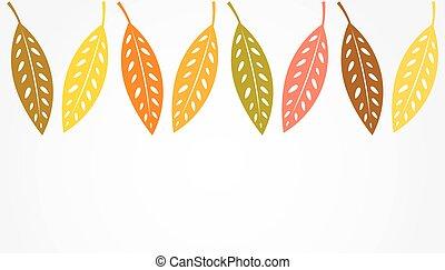 Autumn leaves border background.