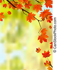 Autumn leaves border for your text. EPS 8 vector file...