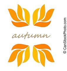 Autumn leaves border symbol