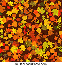 Autumn leaves, bright background. EPS 8 vector file included