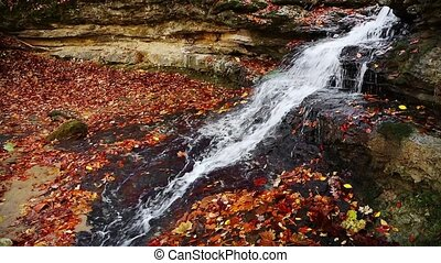 Autumn Leaves Cascade Loop - Whitewater cascades down of...