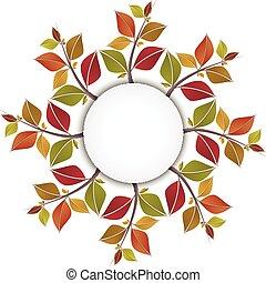 Autumn leaves circle banner