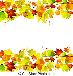 autumn leaves - Autumn leaves background with space for text