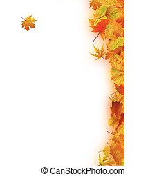 Autumn Leaves - Decorative frame from bright autumn leaves. ...