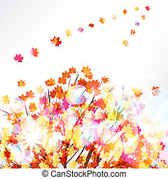 Autumn leaves design background.