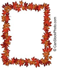 Autumn Leaves design frame photo
