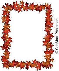 Autumn Leaves design frame photo