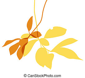 Autumn leaves. - Autumn leaves with a transparent effect....