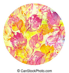 autumn leaves fall watercolor