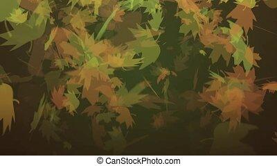 Autumn Leaves Falling HD Loop