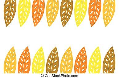 Autumn leaves frame background.
