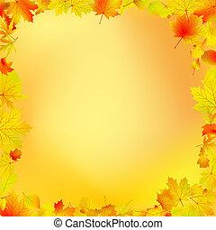 Autumn leaves frame