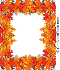autumn leaves, grens, frame