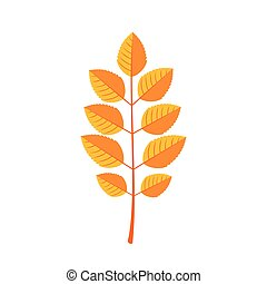 Autumn Leaves icon in flat style.