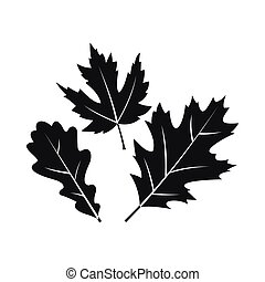 Autumn leaves icon, simple style