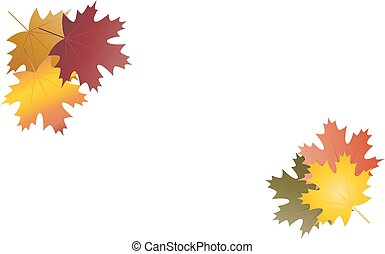 Autumn leaves in groups background