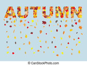 Autumn leaves in spring title