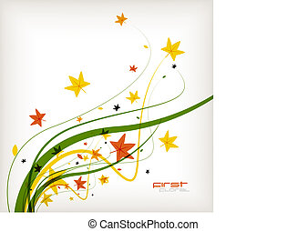 Autumn leaves nature vector background