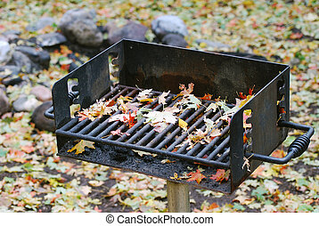 Autumn Leaves on Barbeque