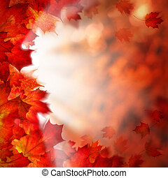 Autumn Leaves on Fall Background