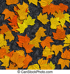 Autumn leaves or marble seamless generated texture background
