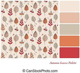 Autumn Leaves palette