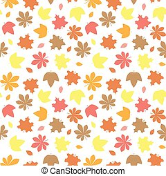 autumn leaves pattern - Seamless pattern with autumn leaves...