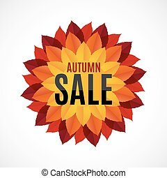Autumn Leaves Sale Background Vector Illustration