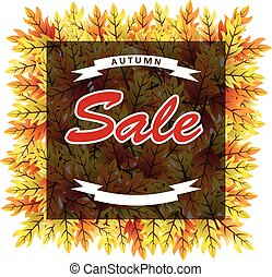 Autumn leaves sale banner