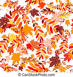 Autumn leaves seamless background for your design