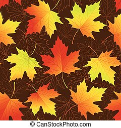 Autumn leaves seamless background. Vector illustration