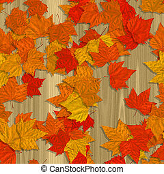 Autumn leaves seamless generated texture background