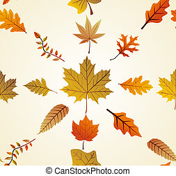 Autumn leaves seamless pattern background. EPS10 file.