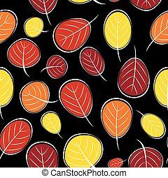 Autumn Leaves Seamless Pattern Background Vector Illustration