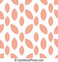 Autumn leaves seamless red pattern