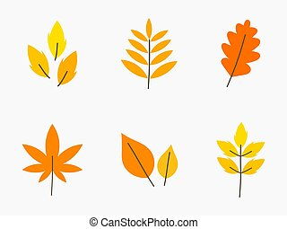 Autumn leaves set.