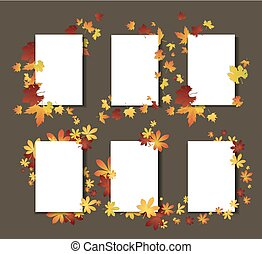 Autumn leaves template cards.