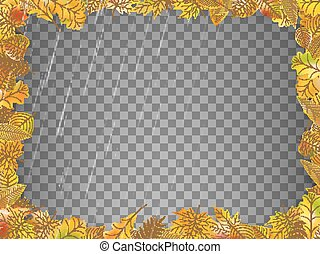 Autumn leaves template. EPS 10 vector