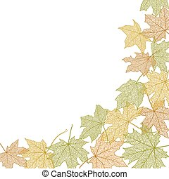 Autumn leaves template