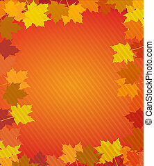 Autumn leaves thanksgiving boarder