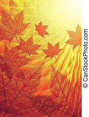 Autumn leaves - Autumn background. Eps8. CMYK. Organized by...