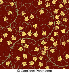 Autumn leaves - Seamless pattern from autumn leaves(can be...