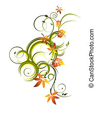 autumn leaves - vector illustration of colorful leaves on a ...