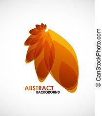 Autumn leaves vector nature concept